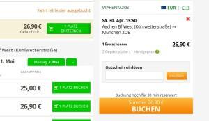 FlixBus Gutschein einlösen