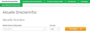 FlixBus Streckeninfos